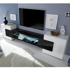Meuble Tv Blanc Et Noir Laqu Brillant Argos 3 Meuble Tv