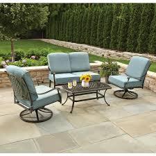 Outsunny 3pc Patio Outdoor Furniture Rattan Lounge Set Sofa Wicker