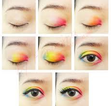 rainbow eye makeup tutorials in the name of colors dark