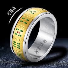 Creative <b>personality Mahjong Ring</b> Men's Titanium Steel index ...