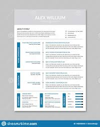 Best Modern Clean Resume Design Minimalist Clean Resume Cv Design Template Stock Photo