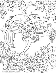 Cute little mermaid with a long tail. Free Mermaids Coloring Pages Ayelet Keshet