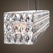 linear chandelier for elegant home interior lighting modern linear suspension lighting with rectangular crystal chandelier
