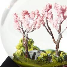 9 pig spring scenery cherry blossom crystal ball home decoration