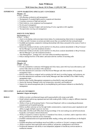 Concierge Resume Concierge Resume Samples Velvet Jobs 1