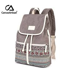 <b>Canvasartisan</b> Top Quality Canvas <b>Women</b> Backpack Casual ...