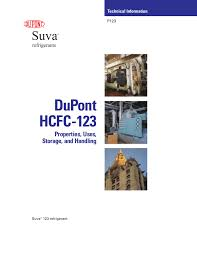 Dupont Hcfc 123 Properties Uses Storage And