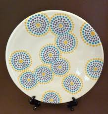 painting pottery plates ceramic plate ideas idea simply grab a fine or round tip brush and