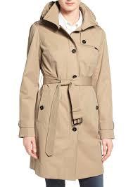 michael michael kors hooded trench coat regular petite