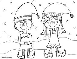 Christmas Elf Coloring Pages Coloringrocks