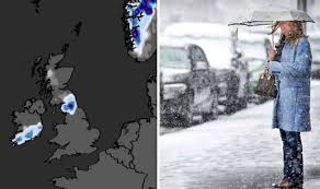 Weather Tree Chart Uk Snow Forecast Map Weather Chart Shows More Than 20cm Of