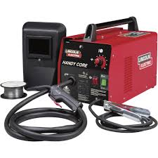 Lincoln Welding Wire Chart Lincoln Electric Handy Core Flux Cored Welder With Face Shield Transformer 115v 35 88 Amp Output Model K2278 1