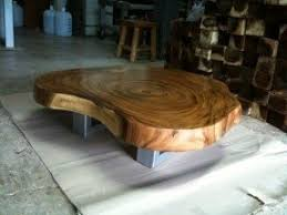 Coffee Table Reclaimed Acacia Wood Solid Slab Amazing Pictures