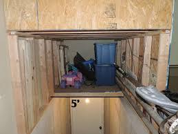 basement stairs storage. Storage Above Basement Stairs