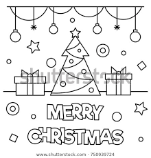 merry christmas coloring page. Beautiful Merry Merry Christmas Coloring Page Black And White Vector Illustration And Christmas Page R