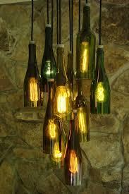 wine bottle lighting. wine bottle chandelier dat kan goedkoper p lighting