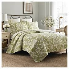 Rowland Quilt And Sham Set King Light Green - Laura Ashley� : Target & Rowland Quilt Set - Laura Ashley® Adamdwight.com
