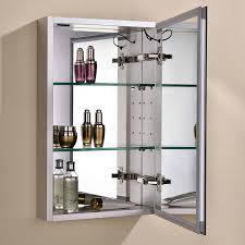 Aluminium Bathroom Cabinets Liberty 380 X 610 Aluminium Mirrored Cabinet With Internal Shaver