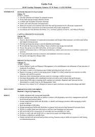 Architectural Project Manager Resume Job Description Projects Manager Resume Samples Velvet Jobs