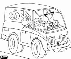 Inspector Gadgets Car Coloring Page Printable Game