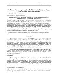 Pdf) The Role Of Business Agreements In...