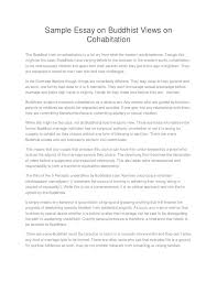 sample essay on buddhist views on cohabitation sample essay on buddhist views on cohabitation the buddhist view on cohabitation is a far cry
