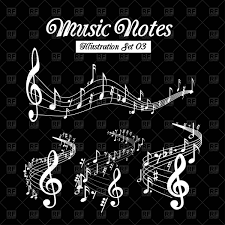 black background design music.  Black Wavy Music Notes Set On Black Background Vector Image U2013 Artwork Of  Music  Sermax55 Click To Zoom And Black Background Design