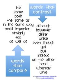 compare and contrast words handout by heather micheals tpt compare and contrast words handout