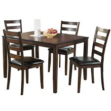 malaga 5 piece contemporary faux leather dining set weekends only furniture