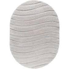 berkshire cream 5 ft x 7 ft oval area rug