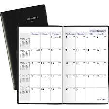 At A Glance Dayminder Monthly Pocket Planner