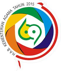 serta logo. logo peringatan hab kementerian agama ke-69 tahun 2015 serta