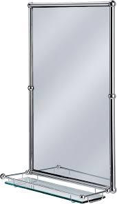 bathroom mirror chrome. Burlington Bathrooms Chrome Rectangular Mirror With Shelf - BathroomAnd.co.uk Bathroom H