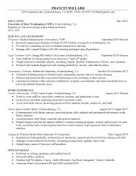 View Sample Resumes Free Sample Resumes Center For Career And Professional Development
