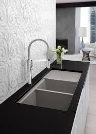 decorating luxury dornbracht kitchen faucet with kraus sinks for