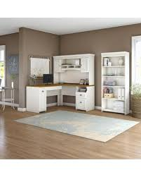 white l shaped desk with hutch. Modren With Fairview L Shaped Desk With Hutch And 5 Shelf Bookcase In White L  In With W