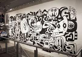 Black And White Mural Design Size Mural Jon Burgerman Black White Drawing Doodles