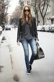 fashion blogger vanja wearing black slip ons from h m zara and jacket both from