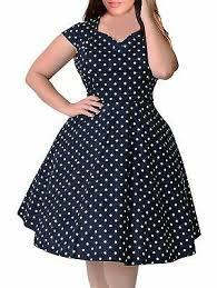 1950s Clothing Size Chart Nemidor Womens 1950s Style Cap Sleeve Polka Dot Summer Vintage Plus Size Swing Ebay