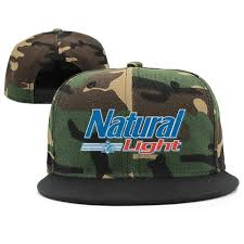 Natty Light Visor Uter Ewjrt Adjustable Natural Light Logo Snapback Hats
