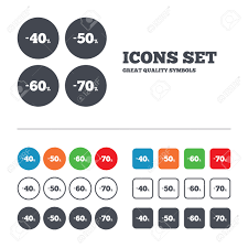 discount icons special offer price signs 40 50 60 and special offer price signs 40 50 60 and 70
