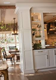 Kitchen Divider Im A Big Fan Of Double Sided Glass Cabinets A Custom Hutch