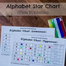 My Alphabet Chart Alphabet Star Charts Researchparent Com