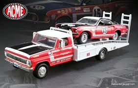 Acme 1:64 Ford F-350 Ramp Truck w/#15 1969 Trans Am Mustang ...