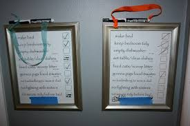 Make A Chore List Write On Write Off Chore Charts For Kids