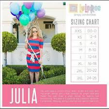 Size Chart Lularoe Brand New Julia Lularoe Dresses Nwt