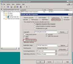 Nitasha's blog - IIS6.0 UI vs. IIS7.x UI Series: Directory Browsing