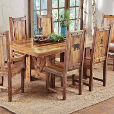 rustic dining table and chairs. Full Size Of Dining Room:sierra Vista Driftwood Set Table With Bench Seats Rustic And Chairs S