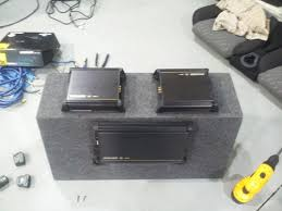 multi amp wiring related keywords suggestions multi amp wiring amp enclosure combination just before installation a view from
