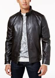 tasso elba men s faux leather jacket created for macy s